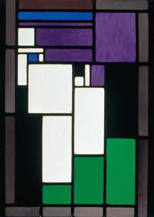 Influenced by De Stijl: Theo van Doesburg's Stained Glass Composition Female Head