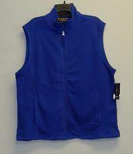 Club Δωμάτιο NWT Cargo Μπλε Fleece μανίκια Πλήρης φερμουάρ μπροστά Vest Mens SZ XL