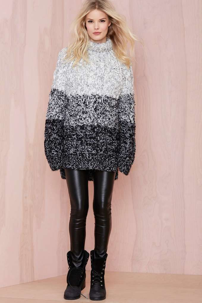 Glamorous Grayed Out Sweater Tunic - Pullover #streetstyle