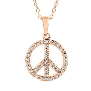 Diamond Peace Sign Pendant In Rose Gold Christmas 2014 Holiday Jewelry Deals and Sales At Gemologica.com. Xmas Gift guide, Gift Ideas For Him, Gift Ideas For Her, Gift Ideas For Kids. Give the Gift of Fine Jewelry From the Gemologica.com Online Jewelry Store. Unique Gifts, Personalized Gifts, Gift Finder For Men, Women, Children @ GEMOLOGICA.COM