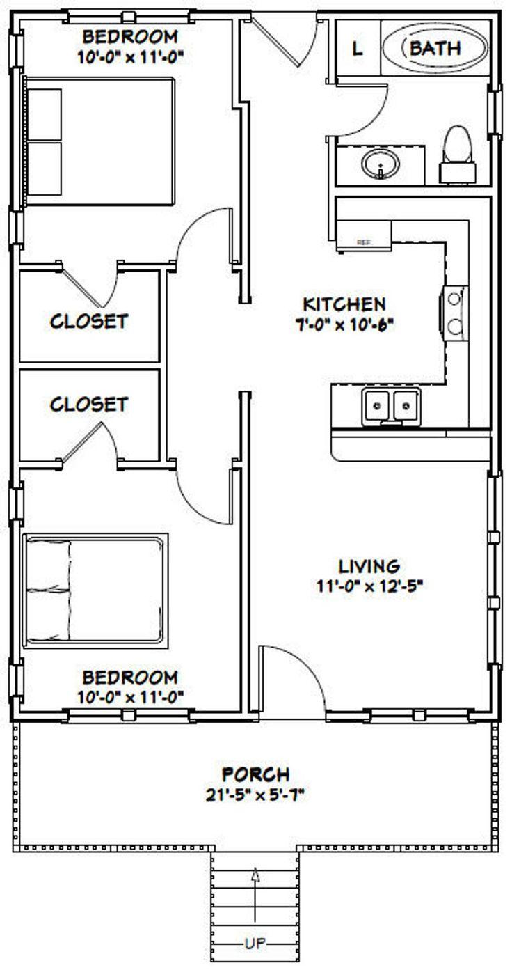 22x32 House 2Bedroom 1Bath 704 sq ft PDF Floor