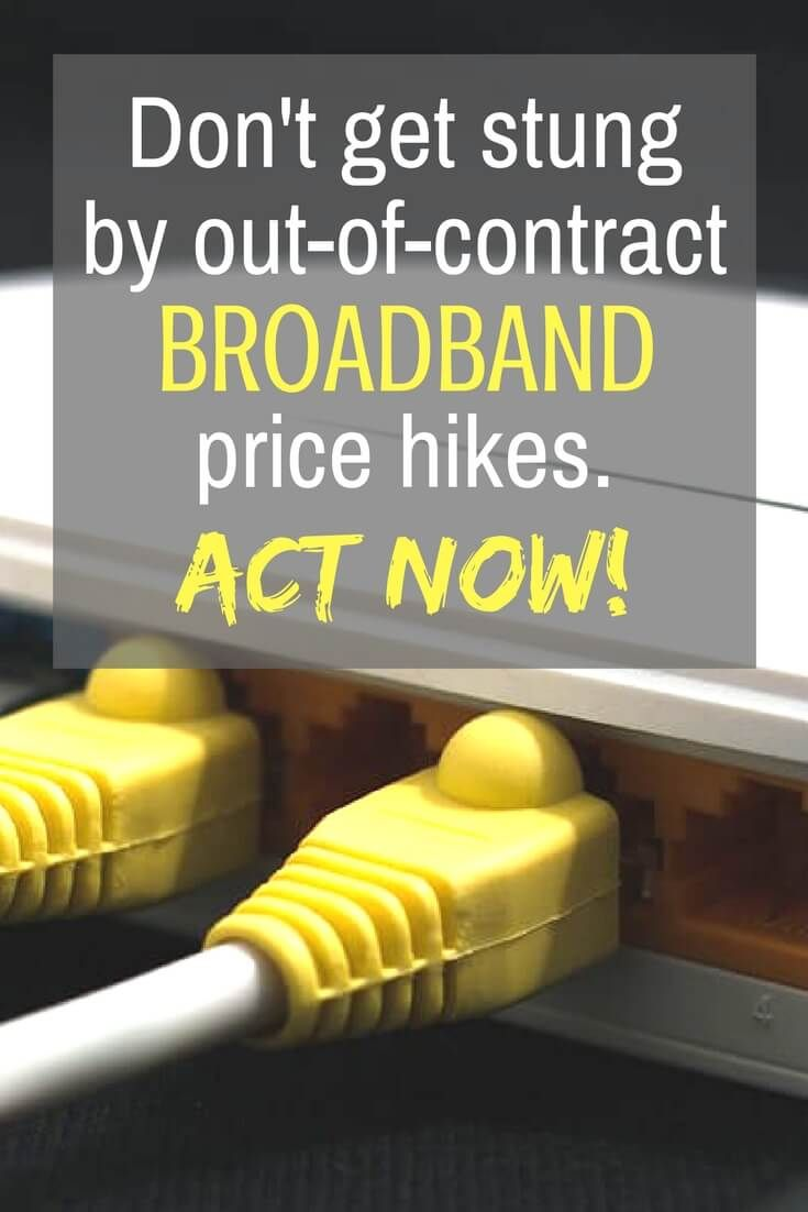 Don't get stung by broadband out-of-contract price hikes - First Utility warn consumers about paying higher prices once the introductory offers end. Switch and save money now!
