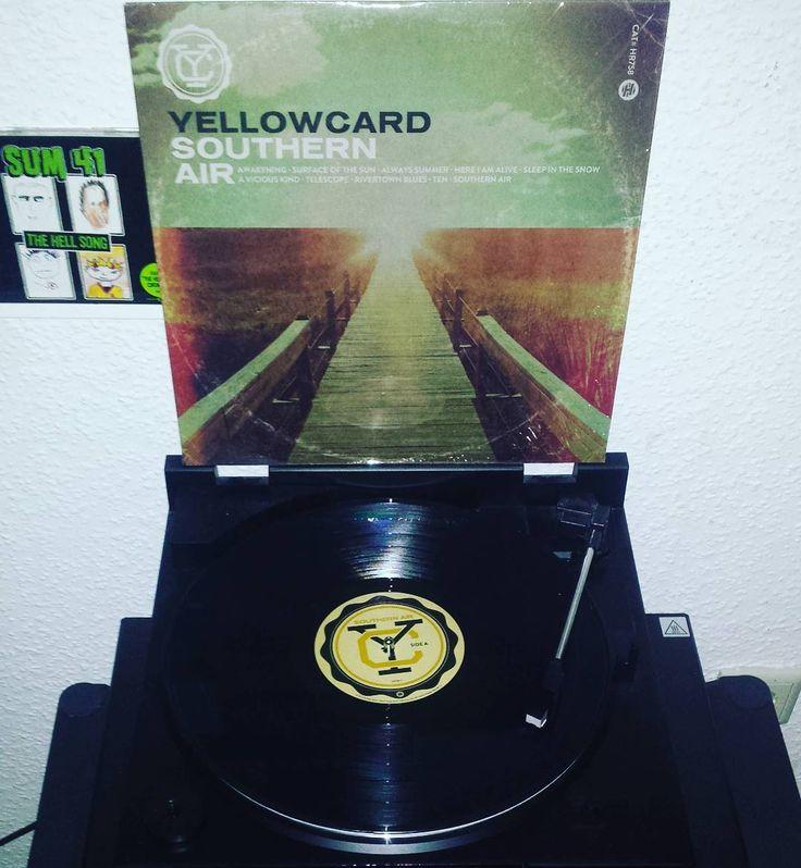 #nowspinning #yellowcard SOUTHERN AIR on #black #vinyl  #yellowcardvinyl #vinyljunkie #vinyligclub #vinylcollection #vinylporn #vinylcollector #vinyladdict #vinyladdiction #12inch #lp #rar #punk #rock #punkvinyl #punkrock #records #fatwreckwiki #ep #skate  #vinyllove #colorful #kids #poppunk by vinyl_addict_