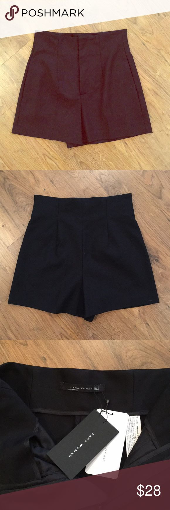 Classy black high waisted Zara shorts NWT New with tags. Black high waisted Zara shorts. Classic piece. Chic. Can be dressed up or down. Make an offer! Zara Shorts