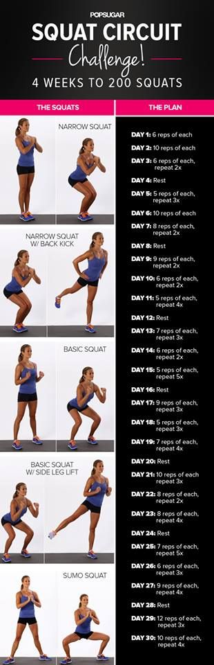 This is the squat challenge I've been doing. I passed the 100 mark - starting to get difficult. #lovesit