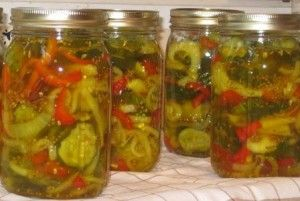 Bread and Butter Pickles, with Onions, Peppers and Garlic « Lauren Groveman…