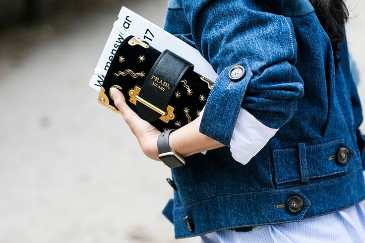 Prada Milano star clutch bag