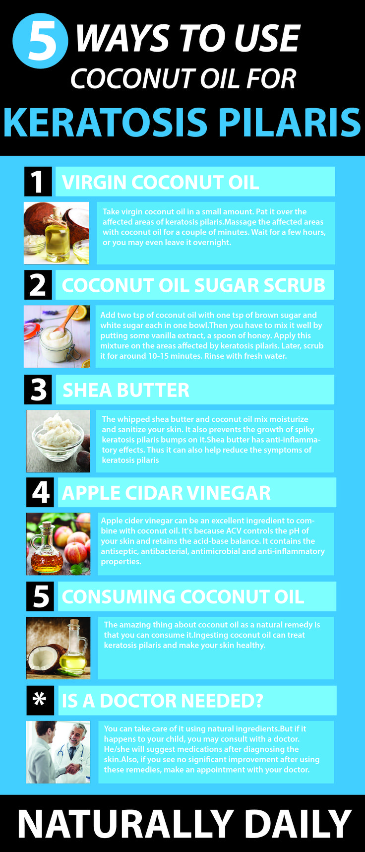 Coconut oil for Keratosis Pilaris : 5 Ways to Get Rid of Chicken Skin