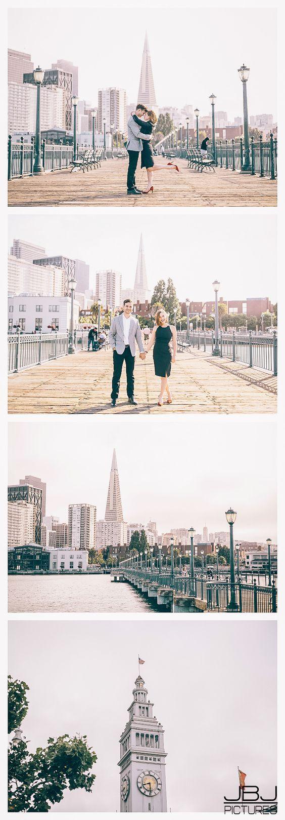 San Francisco Engagement Session Photos at Embarcadero