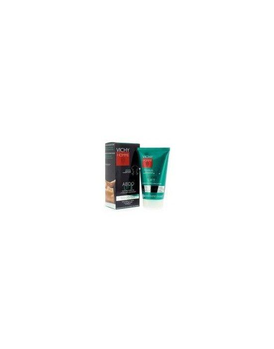 VICHY ABDOLIFT MEN 150ML Νέο Abdolift Homme της Vichy με καθαρή καφεΐνη η οποία μέσω της εφαρμογής με μασάζ βοηθά στη μείωση του λίπους αποθήκευσης που βρίσκεται στην επιφάνεια και τονώνει τους ιστούς του δέρματος