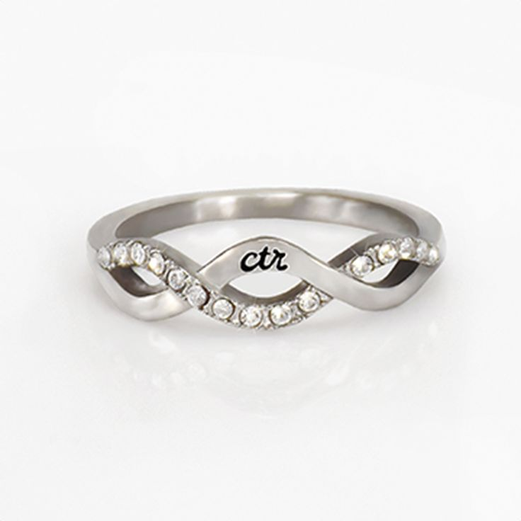 Crossover CTR Ring   CTR Rings on LDSBookstore.com   What a beautiful CTR ring! Very unique.