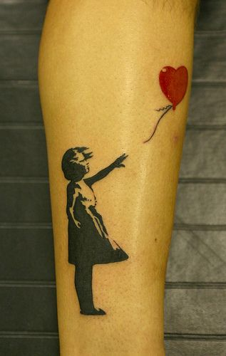 banksy piece tattoo by johnny gage, via Flickr