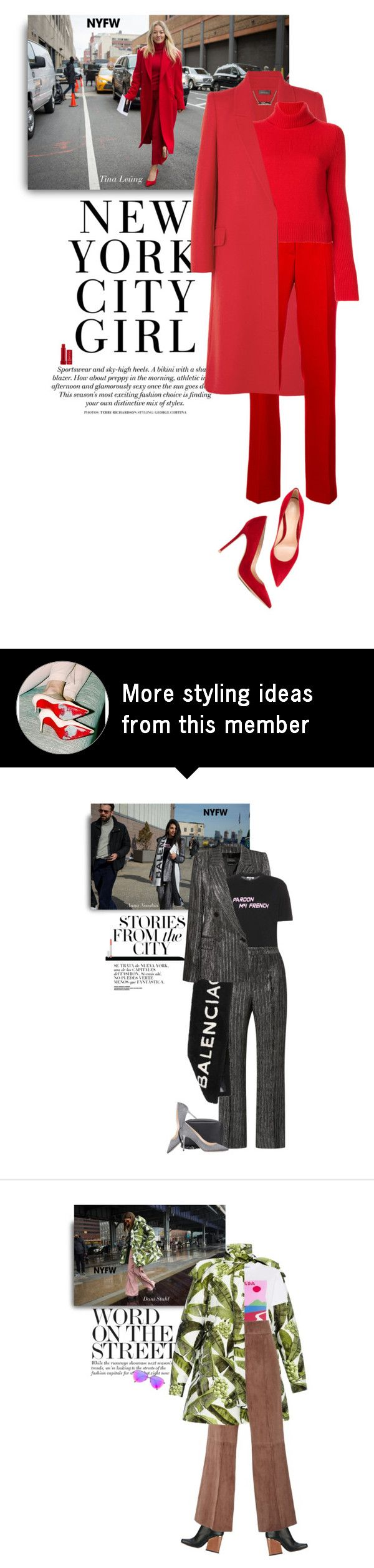 """""""NYFW: Tina Leung"""" by hollowpoint-smile on Polyvore featuring Alexander McQueen, Calvin Klein 205W39NYC, Lamberto Losani, Gianvito Rossi and Fresh"""