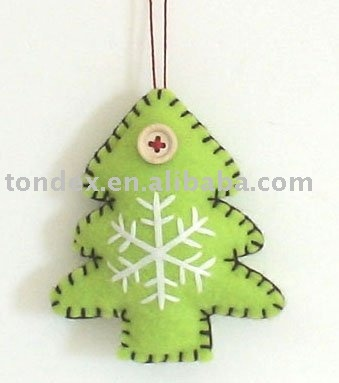 Felt -  Tree  - Snowflake   adorno del arbol en fieltro
