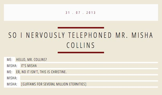 So Yesterday Misha Collins Gave Out His Number On Twitter