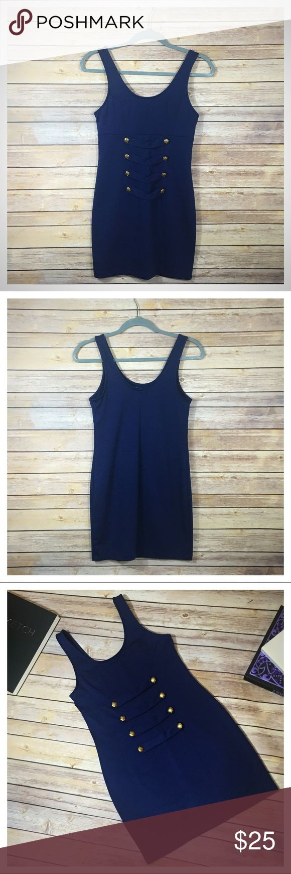 UO Silence + Noise Nautical Bodycon Dress - Blue Urban Outfitters Silence + Noise Nautical Bodycon Dress - Blue  Bodycon dress with nautical inspired gold buttons.  - 70% Polyester, 25% Rayon, 5% Spandex - Handwash Cold, Hang to Dry - Preowned Condition :  No known flaws  No TRADES. Please use offer button to negotiate. Thanks! silence + noise Dresses