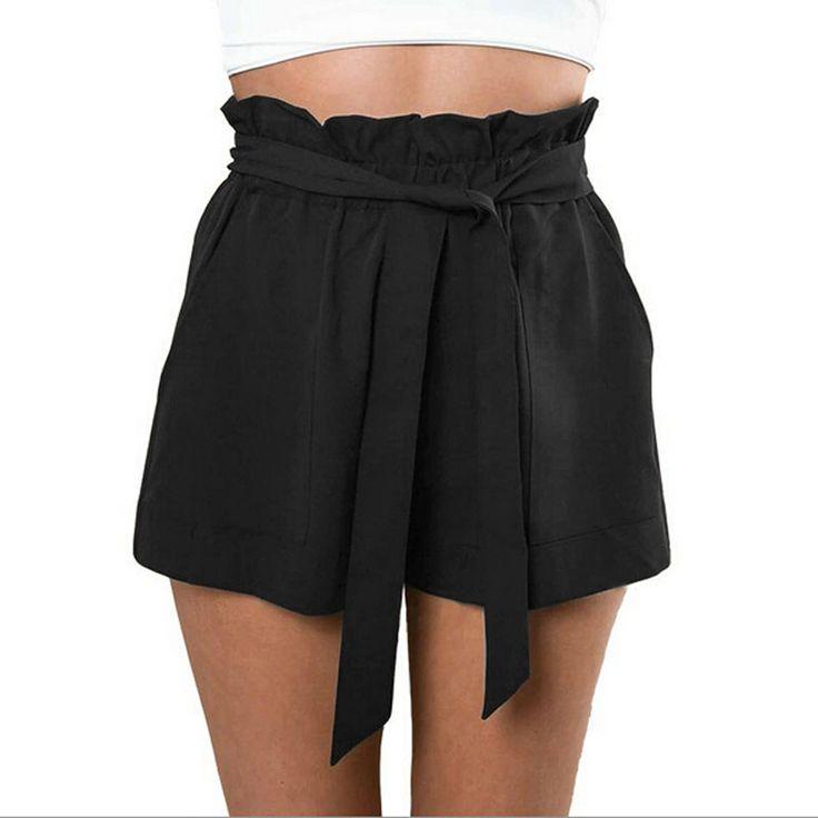 ファッション女性カジュアルショーツデザインパッチワークプラスサイズハイウエストショーツ緩いファッショナブルなショートパンツ女性ベルト付き