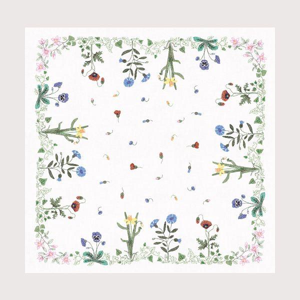 Nappe Frise de Fleurs au point de croix imprimé Bonheur des Dames réf. 6110