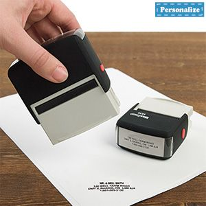 Personalized Stamp (4 Lines) - Self-inking stamp makes thousands of impressions! $24.98 CAD