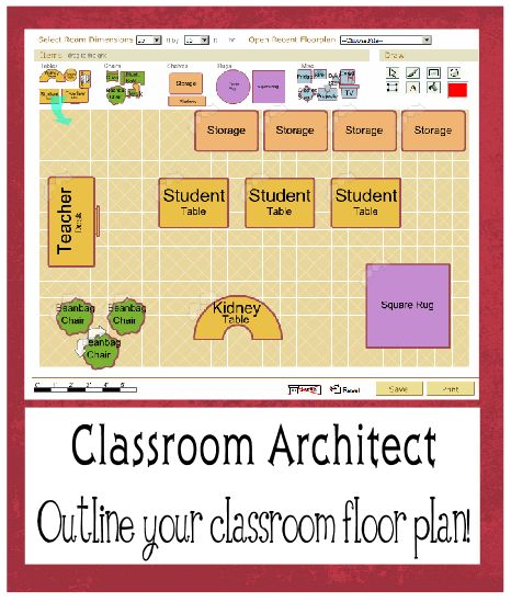 Create your classroom layout. Easy and free! Classroom.4teachers.org