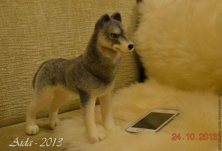 Купить Волк Акела - войлочные игрушки, Авторские игрушки, подарки, корпоративные подарки, волк, волки