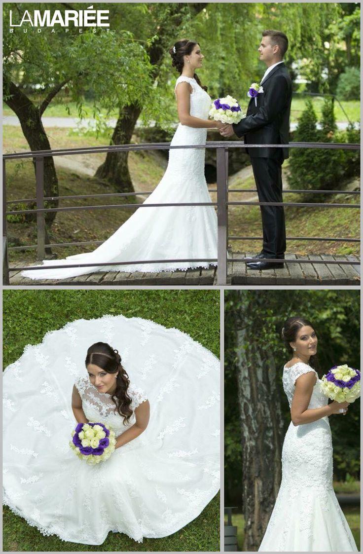 LANDEL esküvői ruha Pronovias kollekció - Barbara menyasszonyunk http://mobile.lamariee.hu/eskuvoi-ruha/pronovias-2014/landel