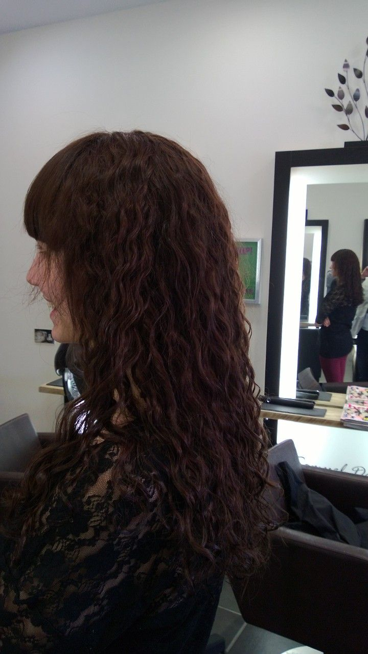 Undo straight perm - Result Long Hair Perm With Straight Fringe Beautiful Curls Good Work Wendy
