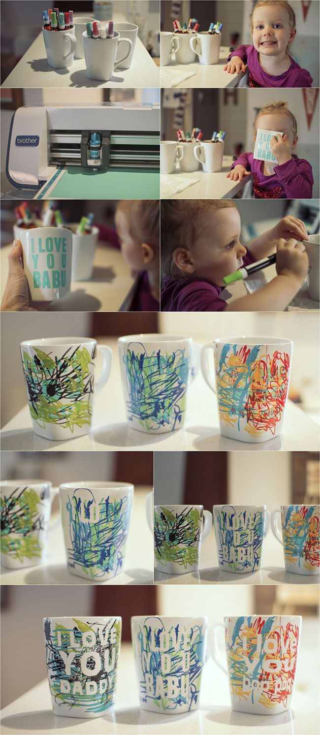 Father's Day coffee mug || perfect last minute kid craft!