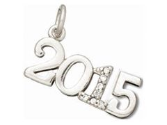 Sterling Silver Class of 2015 Graduation Charm. Item# CHSS-MS-C2015.