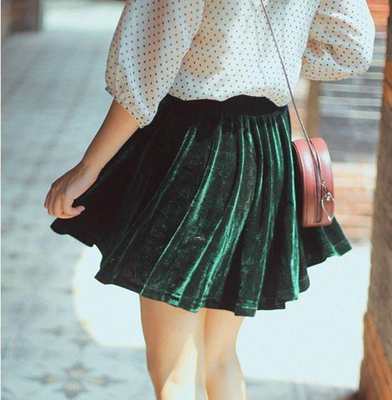 Velvet Skirt Punk Rocker