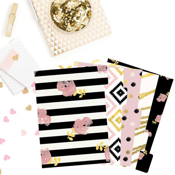 Modern Girl Planner Dividers/ A5/ Personal/ Planner Dividers / Planner Accessories / Planner Decorations / Filofax / Planners /Classy