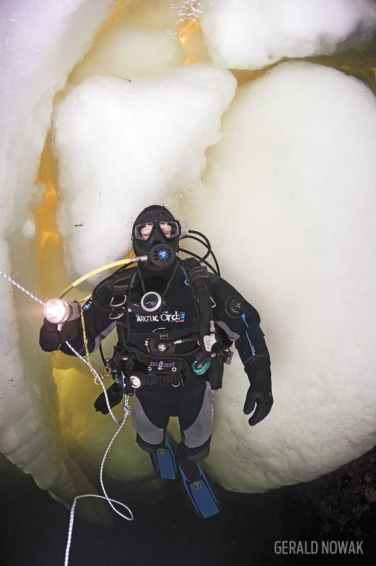 Diver Underwater White Sea Russia