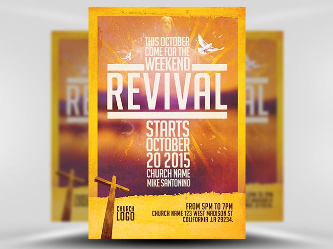 free church revival flyer template.html