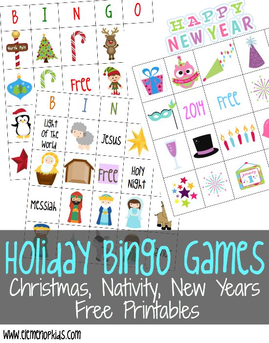 Free Holiday Bingo Games: Christmas, Nativity, and New Years