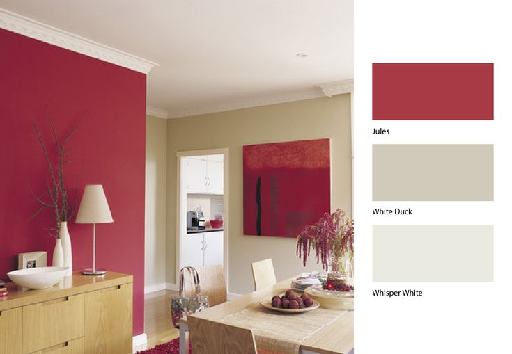 Dulux Wall Paint Design : Open up your dining area by this clever mix of dulux