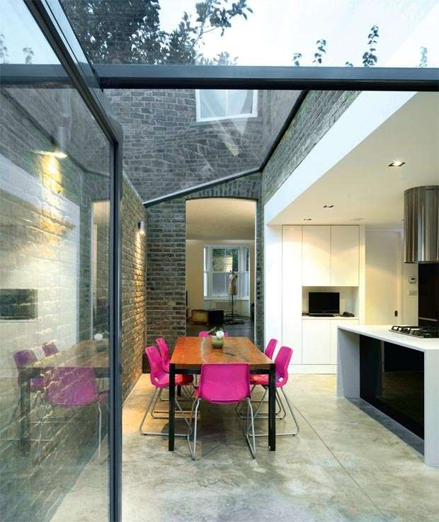 Glass kitchen extension
