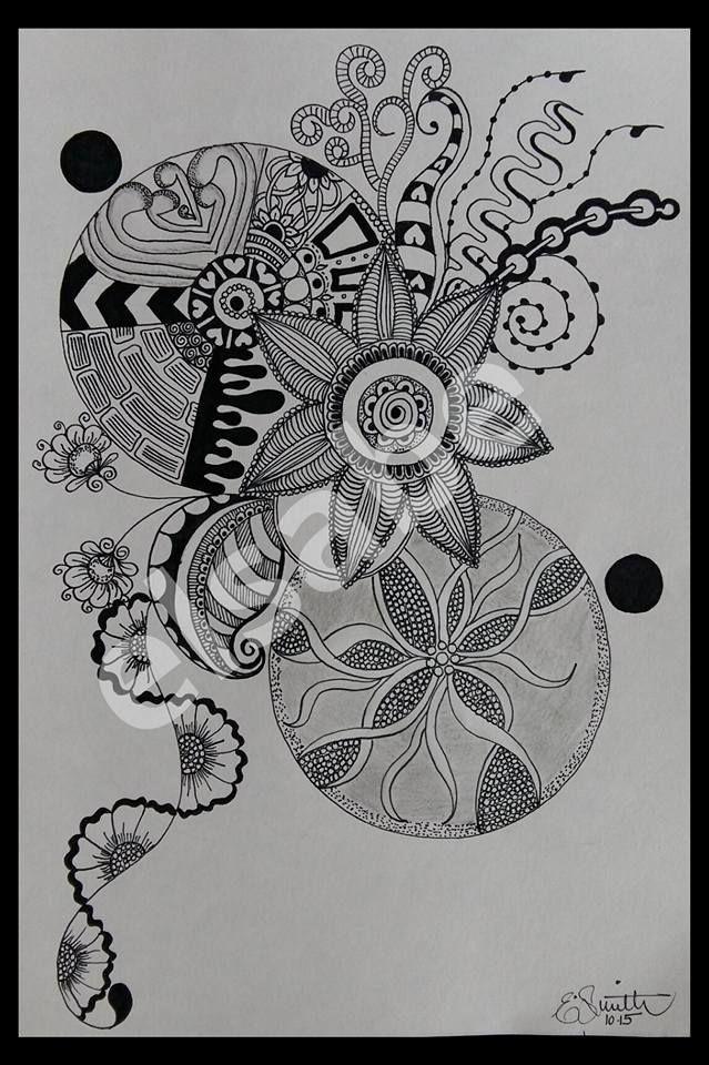 circles and swirls - zentangle art
