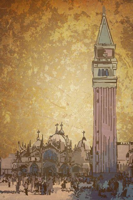 Piazza San Marco / ps, dim. 30x45 cm, 2015