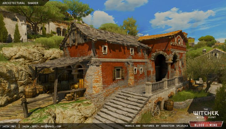 ArtStation - The Witcher 3 Architectural Material, Jacek Maj
