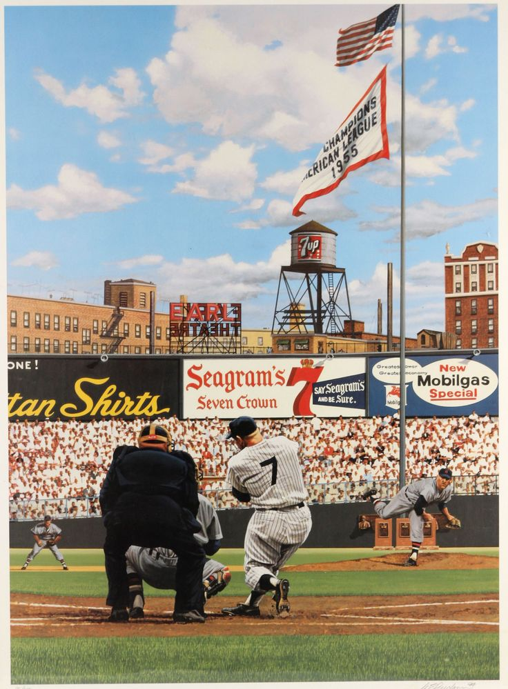 "1994 Mickey Mantle ""Seven Up Forever"" by Bill Purdom 22"" x 27"""