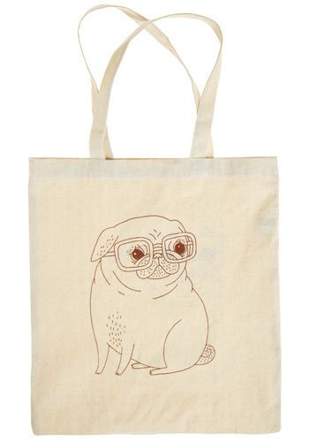 Wisdom by Winston Tote - Cream, Red, Print with Animals, Casual, Eco-Friendly, Exclusives, Top Rated