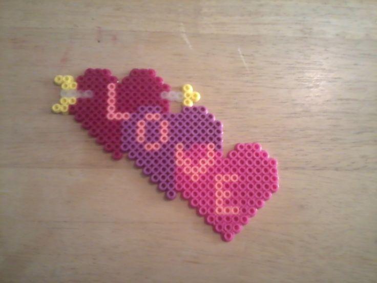 Love perler beads by Sara Swope