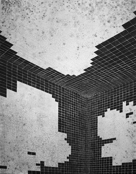 Broken Patterns  Danny Jauregui. Jack's Bath, Gouache on Canvas