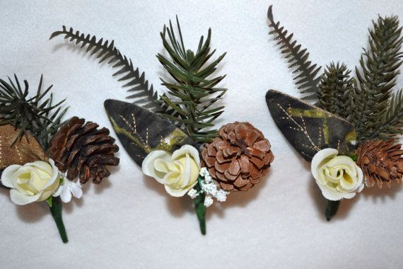Mossy Oak Camouflage Wedding Boutonnieres by SimplyCountryCrafts, $30.00