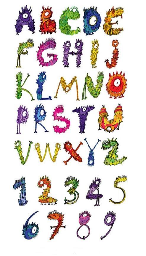 Monstralfabet: abecedari monstruós / Monstrualfabeto: abecedario monstruoso /Monsterletters: monstrous alphabet