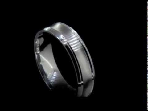 Gents palladium u shaped wedding band #platinumworksbespoke