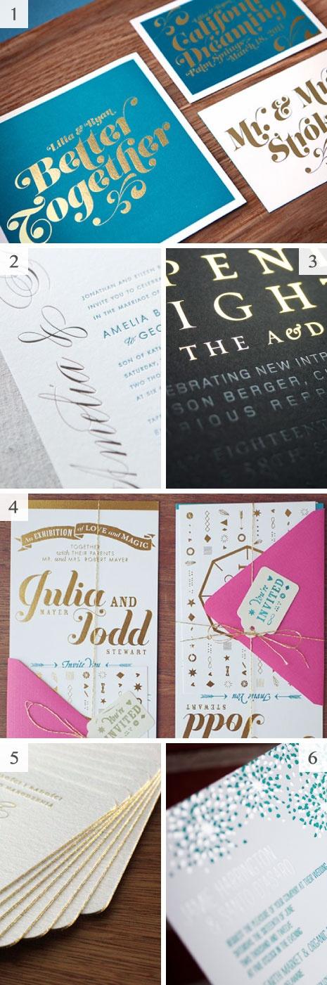 Metallic wedding invitations - #foil #shine #paper #design