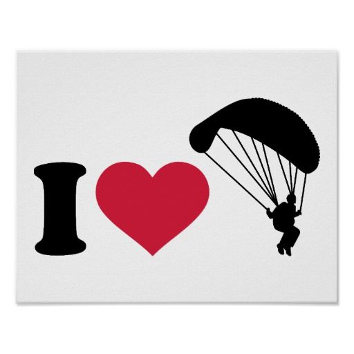 I love Sky diving Poster