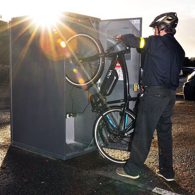 The Bikeaway E Bike Locker Bike Locker Bike Storage Lockers