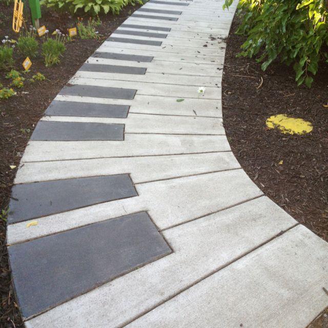 Piano keyboard pathway.